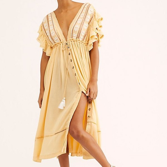 Free People Dresses & Skirts - FREE PEOPLE Bali Will Wait For You Midi Dress